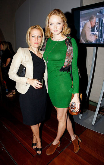 Gillian Anderson and Lily Cole