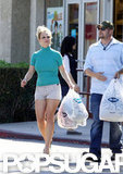 Britney Spears exited the store with her bags in hand.