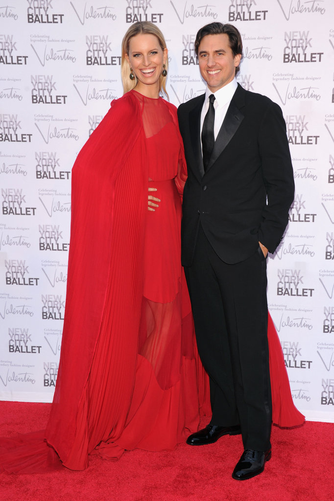 Karolina Kurkova took home the prize for the most stunning look, donning a red sheer Valentino Couture gown paired with a gorgeous cape.