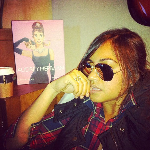 Jessica Mauboy took some time out. Source: Instagram user mushroom1