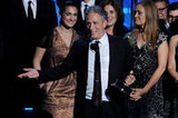 Jon Stewart Struggles to the Stage