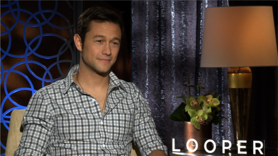 "Looper's Joseph Gordon-Levitt Says He Was ""Happy"" to Change His Face to Resemble Bruce Willis"