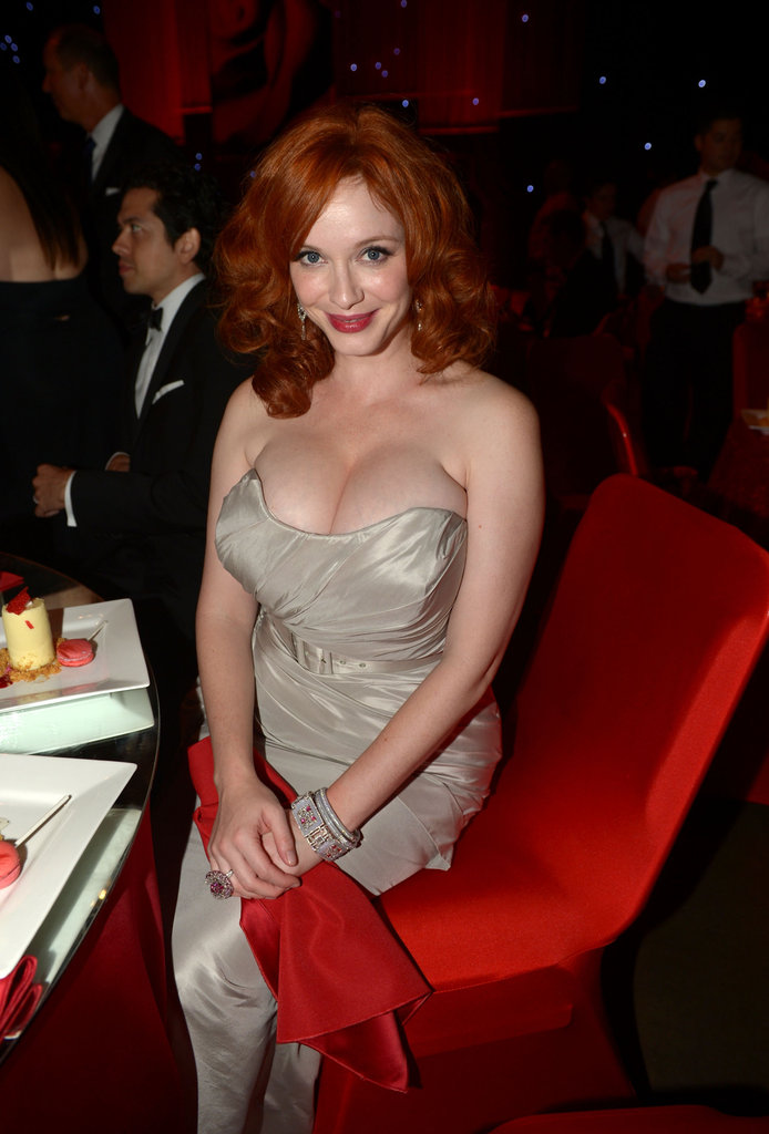 Mad Men's Christina Hendricks was sitting pretty at the Emmys.