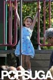 Suri Cruise played on a playground in Brooklyn.