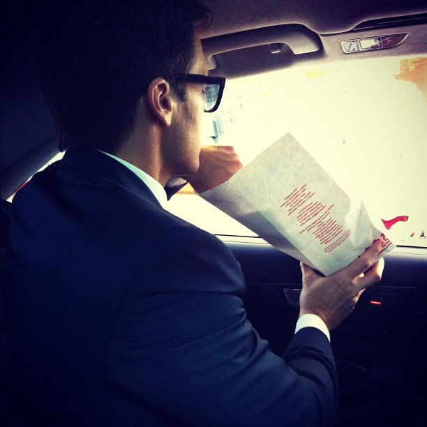 Nick Zano went to In-N-Out after the Emmys. Source: Instagram user nickzano