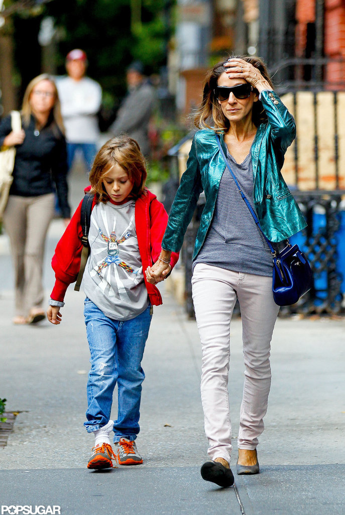 Sarah Jessica Parker and James Wilkie Broderick got back into their school-day routine.