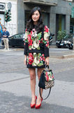You want floral embroidery, you got it. This stylish lady maxed out on Dolce & Gabbana's take on the trend, wearing it even on her bag. Source: IMAXtree