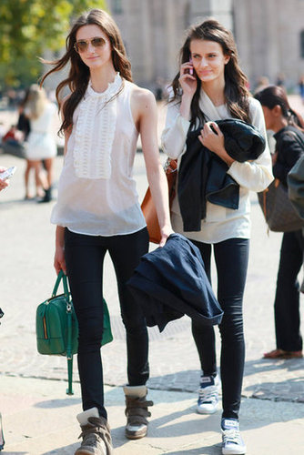 Pumped-up kicks and old school Converse are all part of the model off-duty look. Source: Greg Kessler