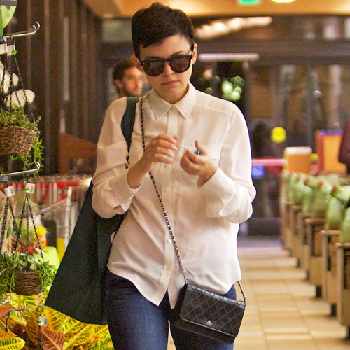 Ginnifer Goodwin Wearing White Blouse