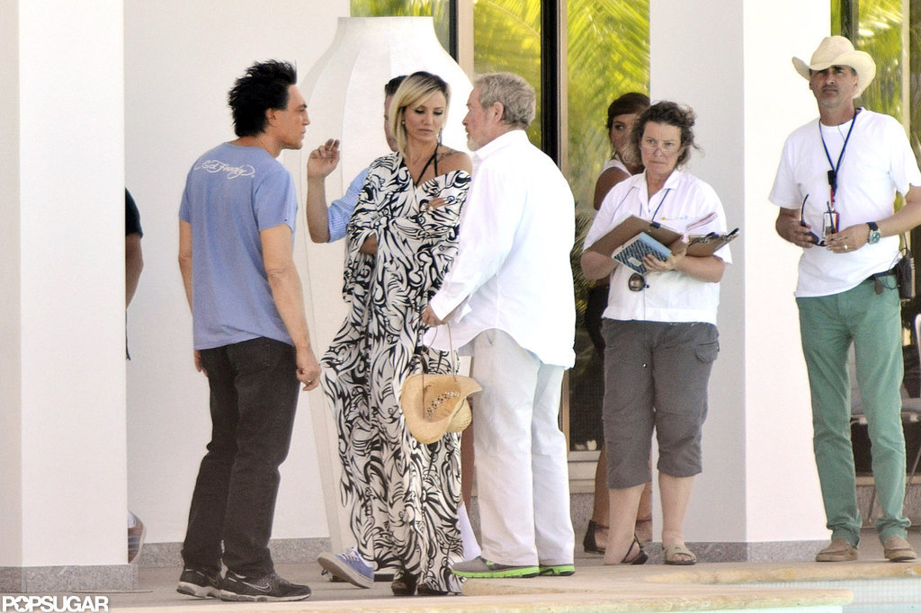 Javier Bardem and Cameron Diaz were on the set of The Counselor in Spain.