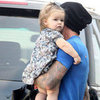 David Beckham With Harper in LA | Pictures