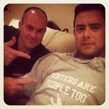 Colin Hanks and Rich Eisen watched Monday Night Football together. Source: Instagram user colinhanks
