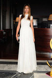 Bianca Balti was a vision in white at the L'Officiel Italia cocktail party.