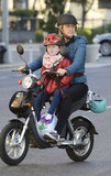 Edie Falco took her daughter, Macy, for a scooter ride around NYC.