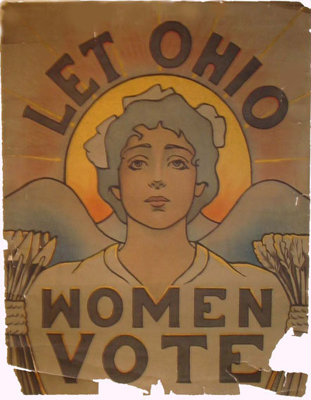 This suffrage poster is from the early 1900s.