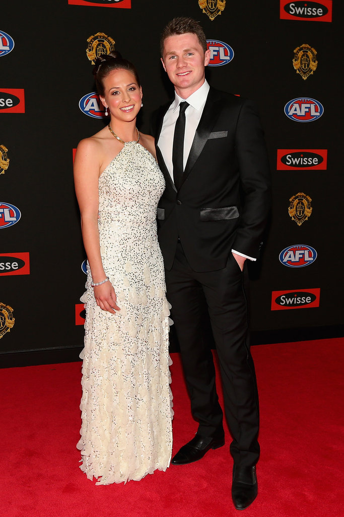 Mardi Harwood and Patrick Dangerfield