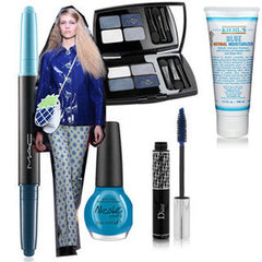 Shop the Blue Eyeshadow and Nail Polish Trend From the Spring 2013 Fashion Weeks With OPI, Dior and Lancome