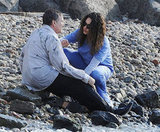 Mila Kunis and Robin Williams filmed a scene on the beach.