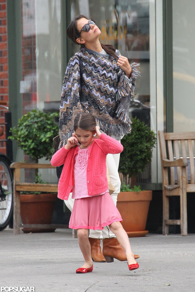 Katie Holmes and Suri Cruise left breakfast.