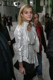 Emma Watson attended the Chanel fashion show during Paris Fashion Week in October 2008.