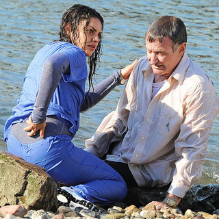 Mila Kunis and Robin Williams on Set in NYC | Pictures