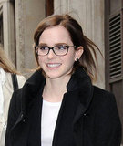 Emma Watson had a smile on her face in London.