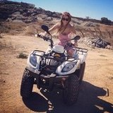 Harley Viera-Newton rode a four-wheeler while vacationing in Greece. Source: Instagram user harleyvnewton