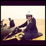 Kate Upton rode a four-wheeler through the dunes of Namibia. Source: Instagram user kateupton