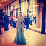 Jessica Hart wore Oscar de la Renta to the opera. Source: Instagram user 1jessicahart