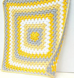 Yellow and Gray Crochet Baby Blanket