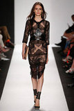 Sheer dress at BCBGMAXAZRIA in New York.