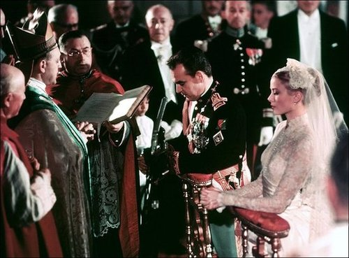 Prince Rainier III and Grace Kelly The Bride: Grace Kelly, then a 26-year-old Oscar-winning American actress. The Groom: Prince Rainier III, the sovereign of Monaco, who met Grace Kelly during the Cannes Film Festival. When: April 18, 1956. Where: The Palace Throne Room in Monaco. It was broadcast across Europe.