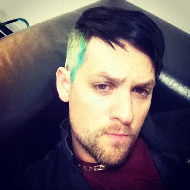 Joel Madden was feeling sick in his dressing room before a show. Source: Instagram user joelmadden