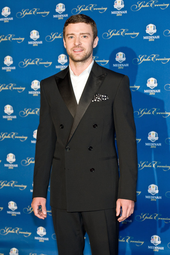 Justin Timberlake arrived at the Ryder Cup Gala.