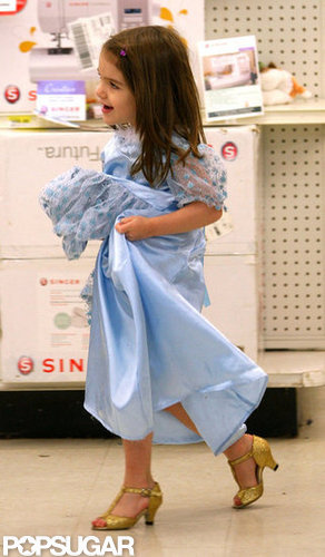 Suri Cruise shopped in Boston while wearing a princess dress and heels days before the spooky holiday in 2009.