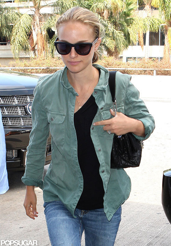 Blond Natalie Portman Jets Out of LA