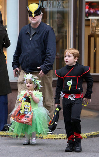 Philip Seymour Hoffman and his kids hit the streets of NYC in 2011.