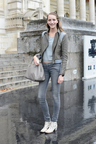 Monochromatic and effortlessly cool in (not quite 50) shades of gray.