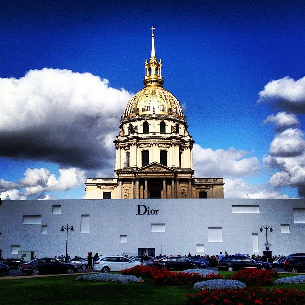 The Christian Dior runway show was set in front of the famed Pantheon of Paris.