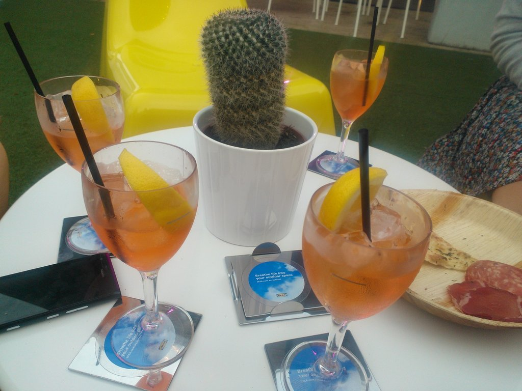 Refreshments at the IKEA outdoor launch.