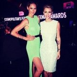 Nikki Phillips and Ruby Rose glammed up for Cosmopolitan's Fun Fearless Female Awards. Source: Instagram user rubyrose86