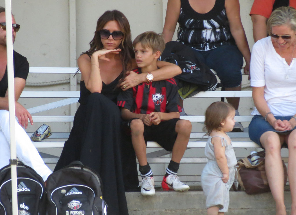 Victoria Beckham Has a Ball at Soccer With Harper, Cruz, and Romeo