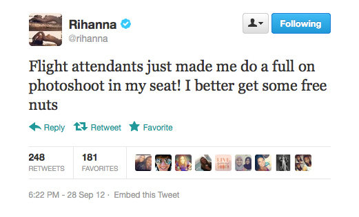 Rihanna drives a hard bargain.