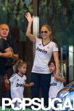 Jennifer Lopez Brings Her Twins For a Sporty Soccer Game