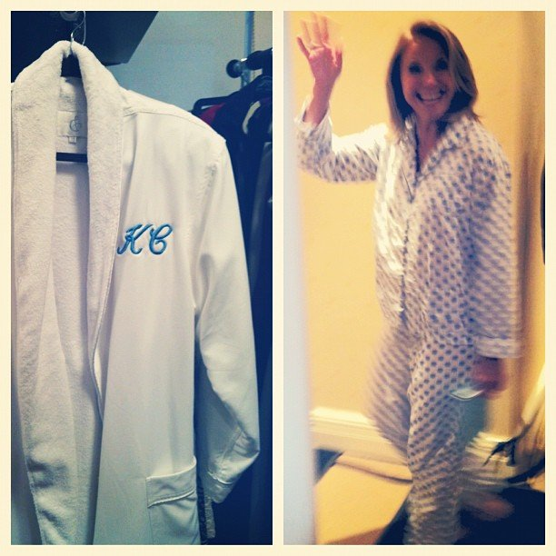 Katie Couric got to wear PJs for her at-home episode of Katie. Best job ever? Source: Instagram user katiecouric