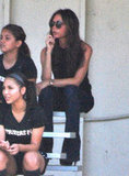 Victoria Beckham was in the stands in LA.