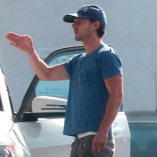 Shia LaBeouf Giving Directions at a Gas Station | Pictures