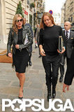Kate Moss and Stella McCartney walked through Paris together.