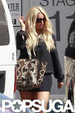 Jessica Simpson wore a long-sleeved top.