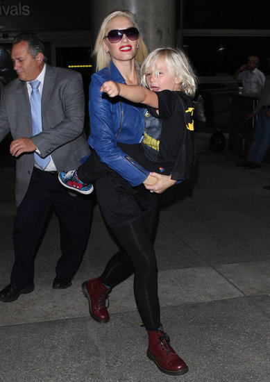 Gwen Stefani and Zuma Rossdale made their way through LAX.